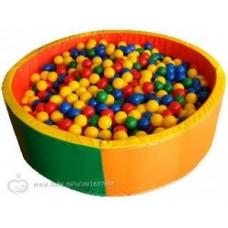 Детский сухой бассейн круглый с шариками (100 шаров)