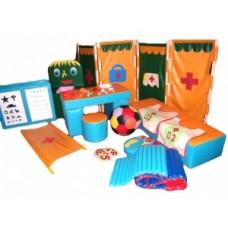 Мягкий масштабный набор для игрового обучения в детских садах - Здоровье и Гигиена (Больничка)