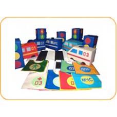 Купить дидактические мягкие игровые наборы - «Правила дорожного движения». Доставка в детские сады по Саратову, Энгельсу, Вольску, Балаково, Марксу