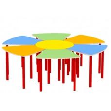 Ромашка / Цветок - комплект из 7 столов (мебель для детского сада)