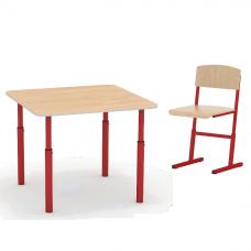 Комплект дошкольника - квадратный стол и стульчик