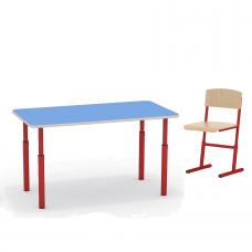 Комплект дошкольника - прямоугольный стол и стульчик