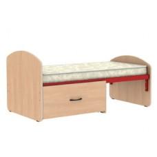 Кроватка растущая с выдвижным ящиком (матрас в комплекте)
