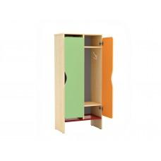 Двухсекционный шкафчик для переодевания в детский сад