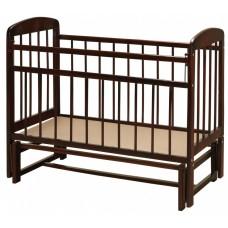 Кроватка с укачиванием. Темный лак