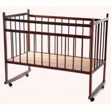 Кроватка для новорожденных. Минима Базовая. Темный лак