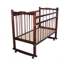 Кроватка с поднимаемым дном. Темный лак