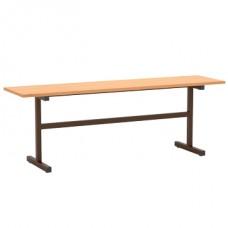 Скамейка 2-местная широкая (к столам на прямоугольной трубе)